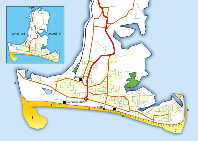 Hayling Island Fishing Map